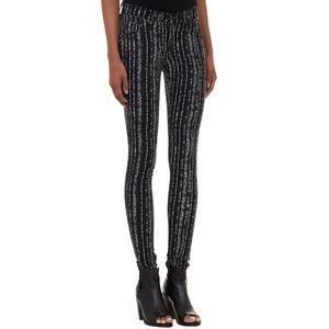 RAG & BONE Barcode Printed Flannel Legging Pants
